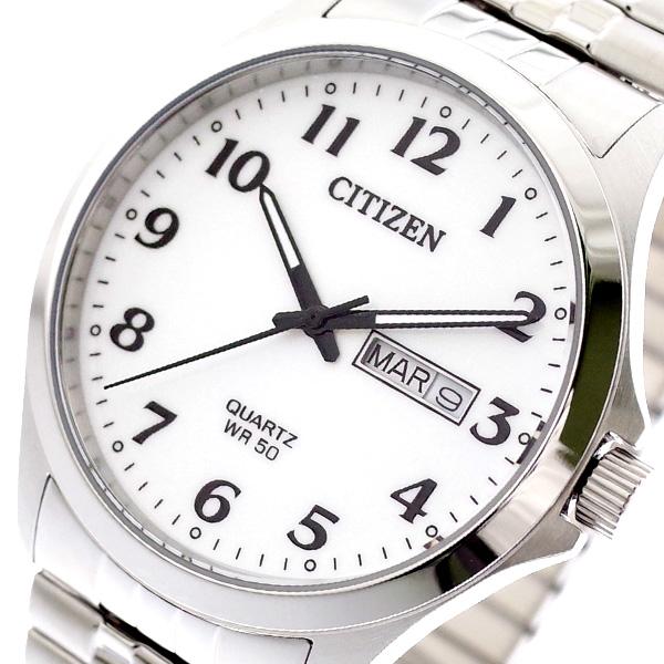 【スーパーSALE】(~9/11 01:59)(~9/30)シチズン CITIZEN 腕時計 BF5000-94A クォーツ ホワイト シルバー メンズ