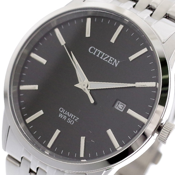(~4/30)【キャッシュレス5%】シチズン CITIZEN 腕時計 BI5000-87E クォーツ ブラック シルバー メンズ