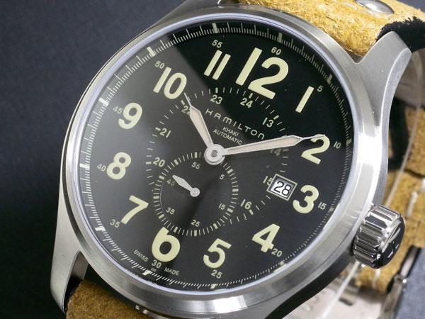【エントリー&3,000円以上でポイント3倍】(~8/24)【ポイント2倍】(~8/31) ハミルトン HAMILTON カーキ KHAKI オフィサー オート 自動巻き 腕時計 H70655733 メンズ 【代引き不可】