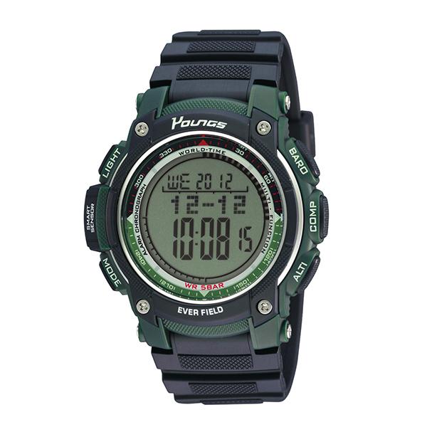(~4/30)【キャッシュレス5%】ヤンズ YOUNGS 腕時計 YP10515-03 クォーツ 液晶 ブラック 国内正規 メンズ