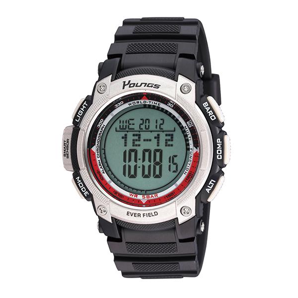 (~4/30)【キャッシュレス5%】ヤンズ YOUNGS 腕時計 YP10515-04 クォーツ 液晶 ブラック 国内正規 メンズ