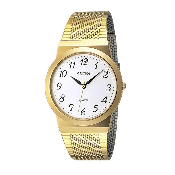 【大感謝祭】(~12/26 01:59)(~12/25)【キャッシュレス5%】クロトン CROTON 腕時計 国内正規 RT-119M-3 クォーツ シルバー ゴールド メンズ
