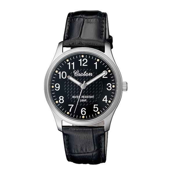【大感謝祭】(~12/26 01:59)(~12/25)【キャッシュレス5%】クロトン CROTON 腕時計 国内正規 RT-157M-1 クォーツ ブラック メンズ