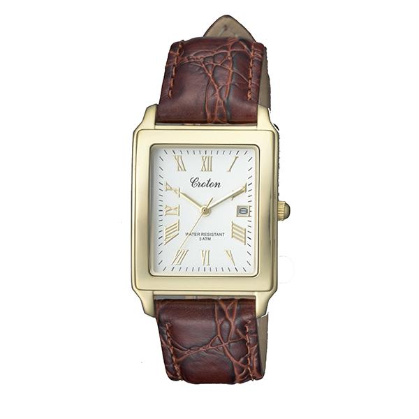【大感謝祭】(~12/26 01:59)(~12/25)【キャッシュレス5%】クロトン CROTON 腕時計 国内正規 RT-158M-B クォーツ ホワイト ブラウン メンズ