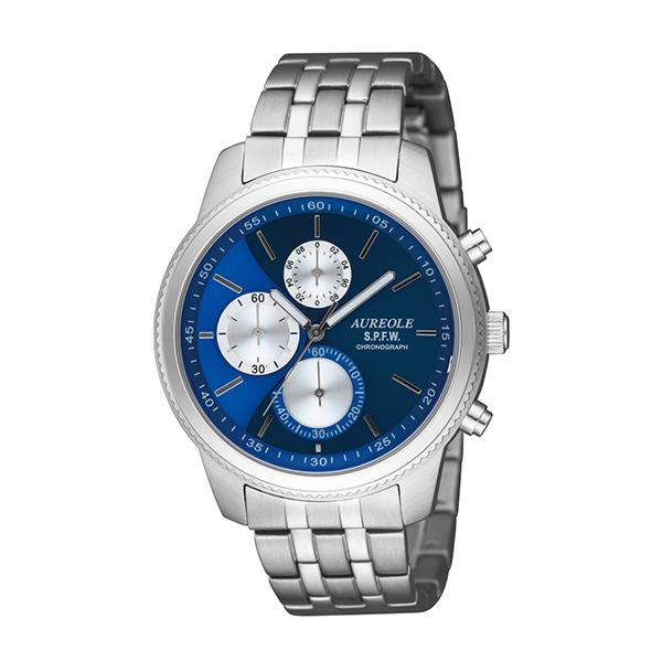 【大感謝祭】(~12/26 01:59)(~12/25)【キャッシュレス5%】オレオール AUREOLE 腕時計 国内正規 SW-575M-6 クォーツ ブルー ブルー シルバー メンズ