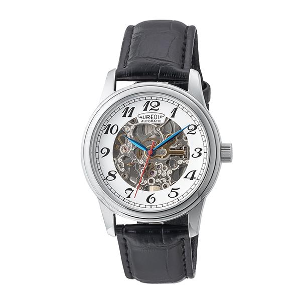【大感謝祭】(~12/26 01:59)(~12/25)【キャッシュレス5%】オレオール AUREOLE 腕時計 国内正規 SW-614M-03 自動巻き ホワイト ブラック メンズ