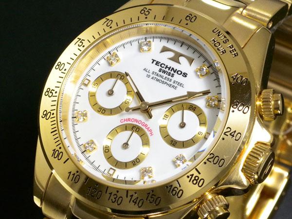 (~8 テクノス/31) メンズ テクノス TECHNOS クロノグラフ 腕時計 TGM639GW TGM639GW メンズ, 二見町:0ffe16ae --- officewill.xsrv.jp