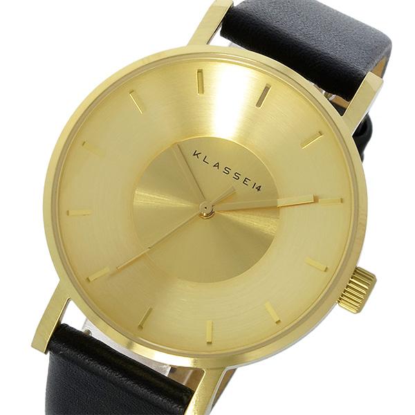 【スーパーSALE】(~9/11 01:59)(~9/30)クラス14 KLASSE14 ヴォラーレ Volare 35mm 腕時計 VO14GD001W ゴールド/ブラック レディース