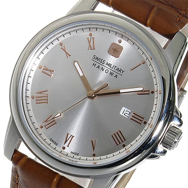 (~4/30)【キャッシュレス5%】スイスミリタリー SWISS MILITARY クオーツ 腕時計 ML-381 シルバー メンズ