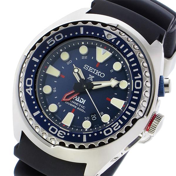 【スーパーSALE】(~9/11 01:59)(~9/30)セイコー SEIKO プロスペックス キネティック GMT ダイバー PADIエディション 腕時計 SUN065P1 ネイビー メンズ 【代引き不可】