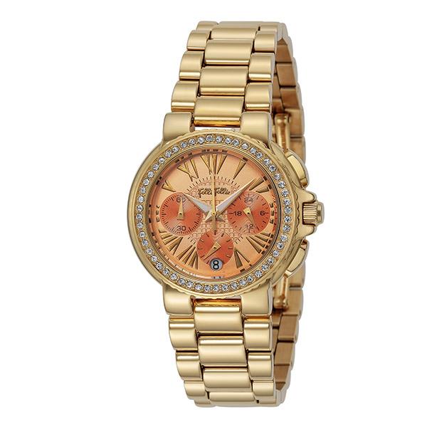 (~4/30)【キャッシュレス5%】フォリフォリ FOLLI FOLLIE 腕時計 WF13C001BEO-XX クォーツ オレンジ ゴールド レディース