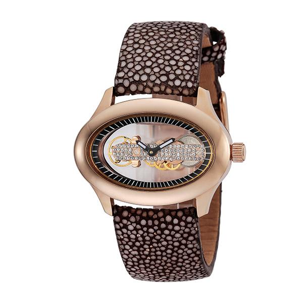 (~4/30)【キャッシュレス5%】フォリフォリ FOLLI FOLLIE 腕時計 WF1R016SSK-BR 自動巻き スケルトン ブラウン レディース