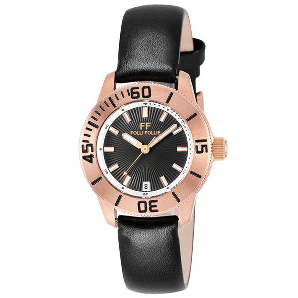 (~4/30)【キャッシュレス5%】フォリフォリ FOLLI FOLLIE 腕時計 WF8R037SDZ-BK クォーツ ブラック レディース