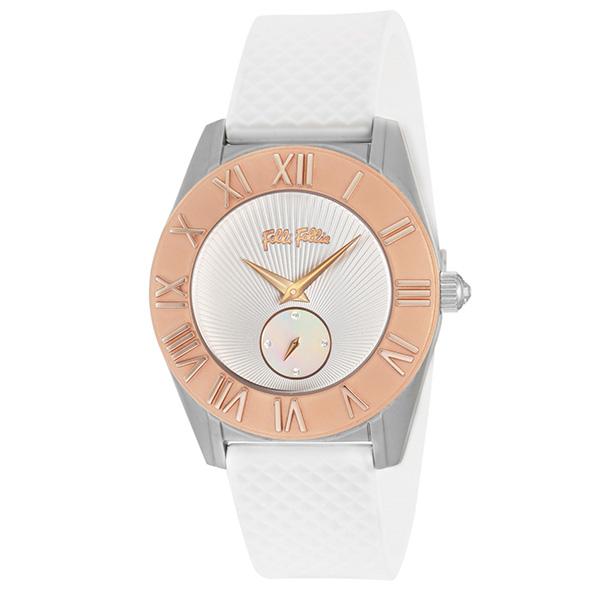 (~4/30)【キャッシュレス5%】フォリフォリ FOLLI FOLLIE 腕時計 WF8T006ZSZ-WH クォーツ ホワイト レディース
