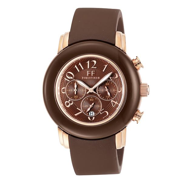 【スーパーSALE】(~9/11 01:59)(~9/30)フォリフォリ FOLLI FOLLIE 腕時計 WF9R001ZEB-BR クォーツ ブロンズ ブラウン レディース