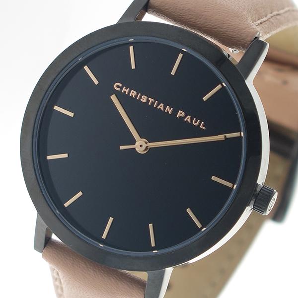 クリスチャンポール CHRISTIAN PAUL 腕時計 クォーツ RBB3513 ロウ RAW ブラック ピンクベージュ レディース