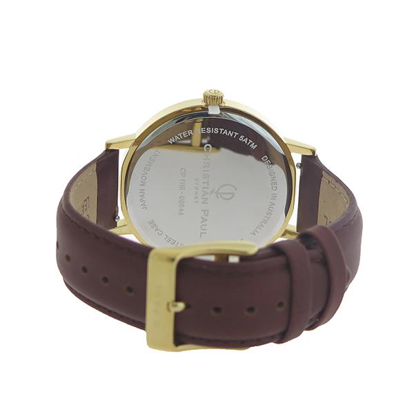 【ポイント2倍】(~4/30 23:59) クリスチャンポール CHRISTIAN PAUL 腕時計 クォーツ RBG4309 ロウ RAW ブラック ブラウン ユニセックス