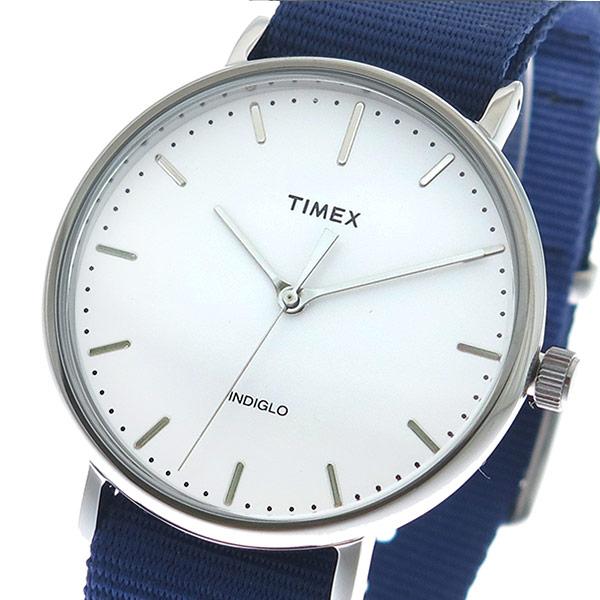【大感謝祭】(~12/26 01:59)(~12/25)【キャッシュレス5%】タイメックス TIMEX 腕時計 TW2P97700 クォーツ ホワイト ネイビー メンズ