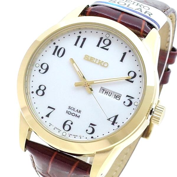 (~8/31) セイコー セイコー SEIKO SNE372P 腕時計 クォーツ SNE372P クォーツ ホワイト ブラウン メンズ, 日本と世界の紅茶&お茶 TEACHA:29e25f53 --- officewill.xsrv.jp