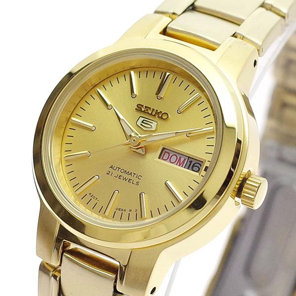 【スーパーSALE】(~9/11 01:59)(~9/30)セイコー SEIKO 腕時計 SYME46K セイコー5 SEIKO5 自動巻き ゴールド レディース