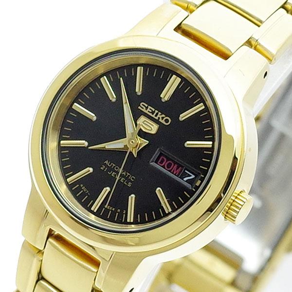 (~8 自動巻き/31) セイコー SEIKO 腕時計 SYME48K セイコー5 ブラック SEIKO5 腕時計 自動巻き ブラック ゴールド レディース, 救骨さん:f2b452ff --- officewill.xsrv.jp