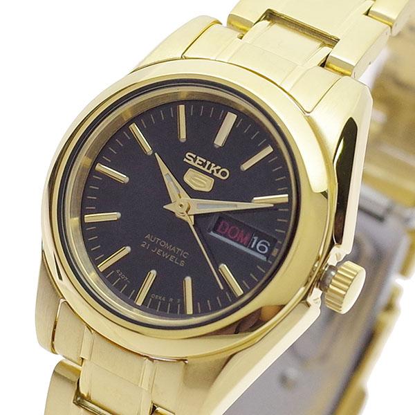 【スーパーSALE】(~9/11 01:59)(~9/30)セイコー SEIKO 腕時計 SYMK22K セイコー5 SEIKO5 自動巻き ブラック ゴールド レディース