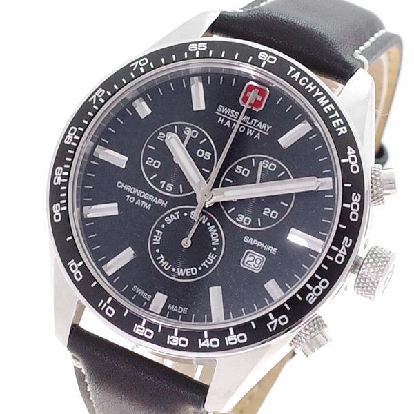 (~4/30)【キャッシュレス5%】スイスミリタリー SWISS MILITARY 腕時計 ML-446 クォーツ ブラック 国内正規 メンズ