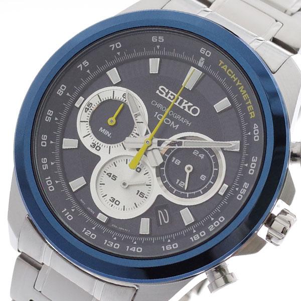 (~4/30)【キャッシュレス5%】セイコー SEIKO 腕時計 SSB251P1 クォーツ ネイビー シルバー メンズ