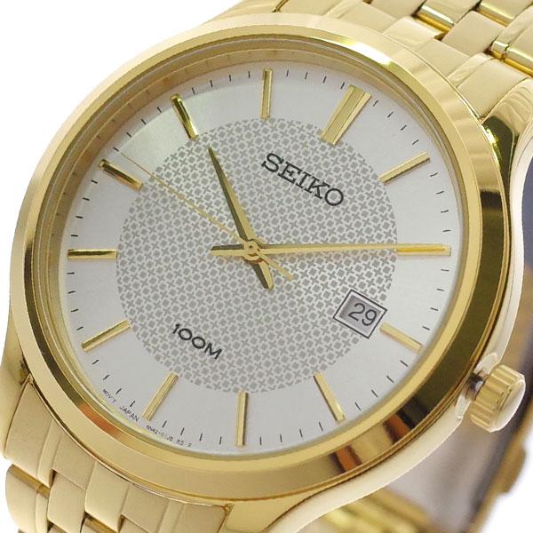 【スーパーSALE】(~9/11 01:59)(~9/30)セイコー SEIKO 腕時計 SUR296P1 クォーツ シルバー ゴールド メンズ