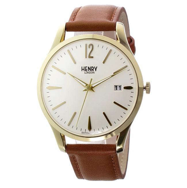 (~8/31) 腕時計 ヘンリーロンドン HL39-S-0012 HENRY LONDON ウェストミンスター 39mm LONDON 腕時計 HL39-S-0012 アイボリー/タン ユニセックス, ハルエチョウ:ed2c67c5 --- officewill.xsrv.jp