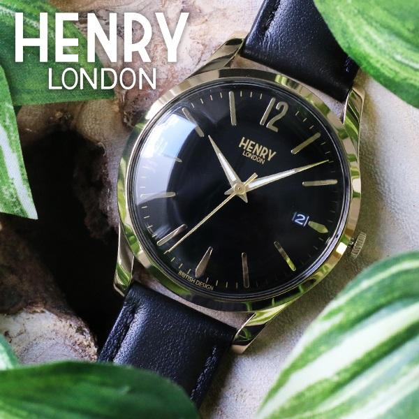 【エントリーでポイント3倍】(~4/16 01:59) 【ポイント2倍】(~4/30 23:59) ヘンリーロンドン HENRY LONDON ウェストミンスター 39mm 腕時計 HL39-S-0176 ブラック ユニセックス