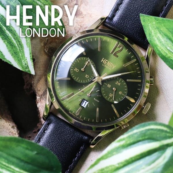 (~8/31) HL41-CS-0106 ヘンリーロンドン HENRY LONDON チズウィック 41mm クロノグラフ 腕時計 ユニセックス 41mm HL41-CS-0106 モスグリーン/ブラック ユニセックス, アクセサリーショップfarice:f611b2d4 --- officewill.xsrv.jp