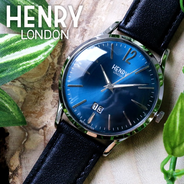 (~8/31) 41mm ヘンリーロンドン HENRY LONDON ナイツブリッジ HL41-JS-0035 HENRY 41mm 腕時計 HL41-JS-0035 ブルー/ブラック ユニセックス, 工事資材通販 ガテンショップ:41f240d8 --- officewill.xsrv.jp