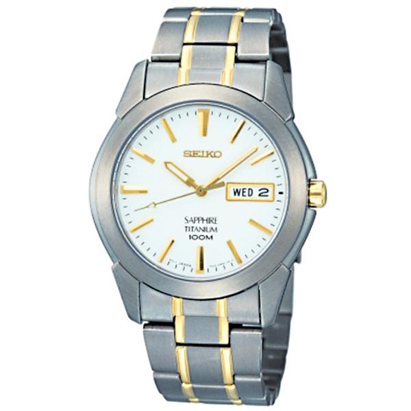 (~4/30)【キャッシュレス5%】セイコー SEIKO チタン クオーツ 腕時計 SGG733P1 ホワイト メンズ