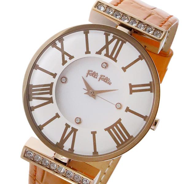 早割クーポン! (~8/31) 腕時計 フォリフォリ FOLLI FOLLIE レディース ダイナスティ DYNASTY FOLLIE クオーツ 腕時計 WF1B029SSS-OR ホワイト レディース, 激安ショップ カードローナ:55b638d8 --- clifden10k.com