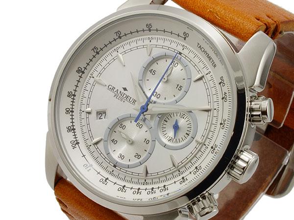 日本最大のブランド (~8 メンズ/31) グランドール プラス GRP001W1 GRANDEUR PLUS クオーツ クロノグラフ 腕時計 (~8/31) GRP001W1 メンズ, フロアマット工房 タスカル:dcb209f3 --- clifden10k.com