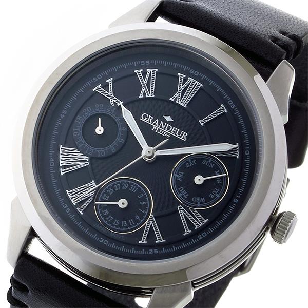 【ラッピング不可】 (~8/31) グランドール プラス GRANDEUR プラス PLUS クオーツ 腕時計 腕時計 GRP004W3 メンズ ブラック メンズ, Classical Elf/クラシカルエルフ:26e80472 --- clifden10k.com