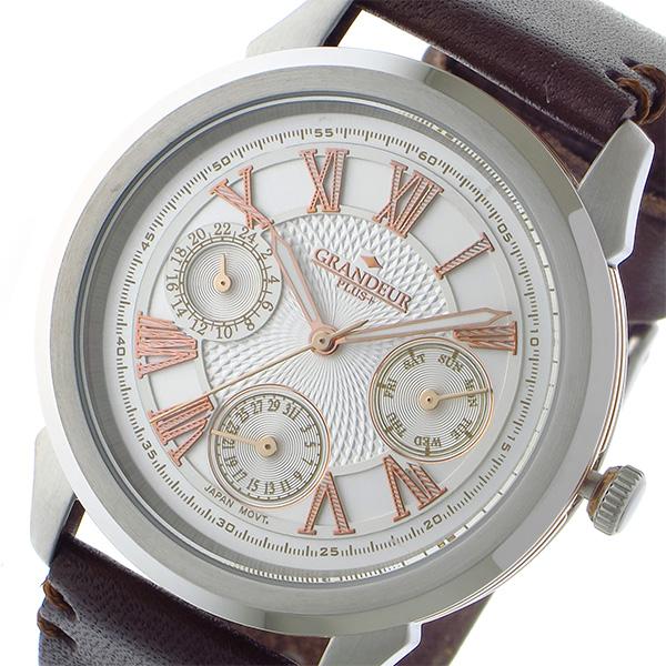 (~8/31) グランドール GRANDEUR プラス PLUS PLUS メンズ クオーツ 腕時計 (~8/31) GRP004W4 ホワイト/ローズゴールド メンズ, オオハルチョウ:7a0de741 --- officewill.xsrv.jp
