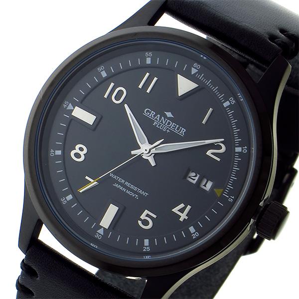 【お買得!】 (~8/31) グランドール グランドール GRANDEUR プラス PLUS PLUS クオーツ 腕時計 GRP005B1 GRP005B1 ブラック メンズ, 下田市:ae772378 --- clifden10k.com
