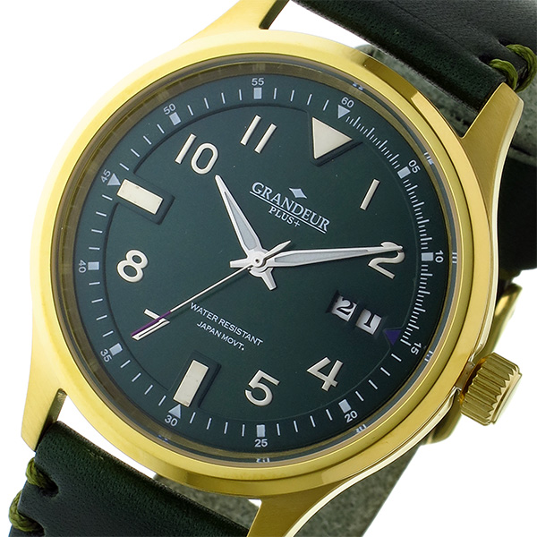 春夏新作 (~8 (~8/31)/31) グランドール GRANDEUR プラス PLUS メンズ クオーツ クオーツ 腕時計 GRP005G1 グリーン メンズ, クリヤマムラ:d357806e --- clifden10k.com