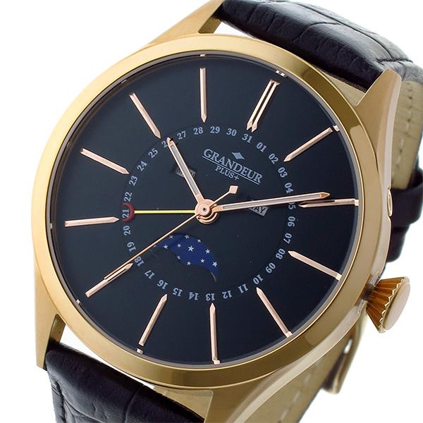 2018新入荷 (~8/31) グランドール GRANDEUR プラス PLUS クオーツ GRANDEUR プラス 腕時計 (~8/31) GRP011P1 ブラック/ピンクゴールド メンズ, アシヤマチ:a5157bd3 --- clifden10k.com