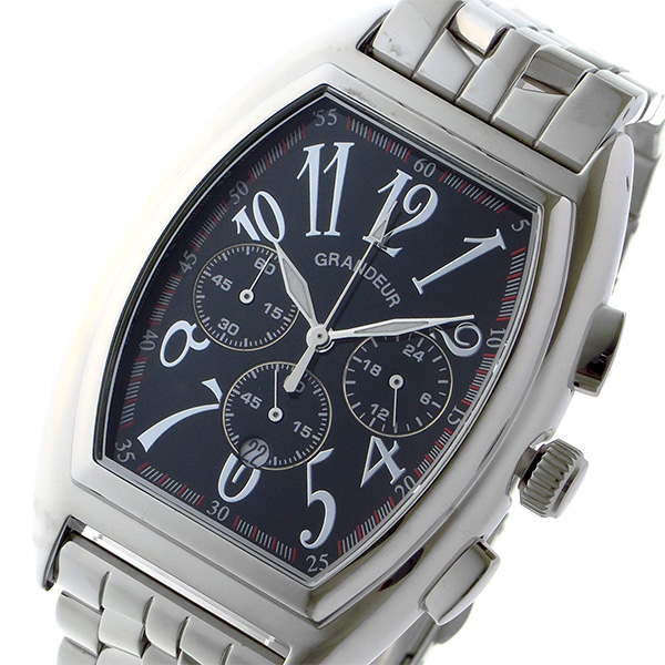 今季一番 (~8/31) japan グランドール メンズ GRANDEUR GRANDEUR 日本製 made in japan クロノグラフ クオーツ 腕時計 JGR003W2 ブラック メンズ, 北欧セレクトFynda:32601713 --- clifden10k.com