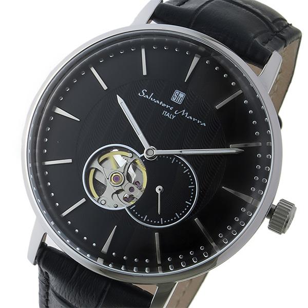 【スーパーSALE】(~9/11 01:59)(~9/30)サルバトーレ マーラ SALVATORE MARRA 自動巻き 腕時計 SM17114-SSBK ブラック/シルバー メンズ
