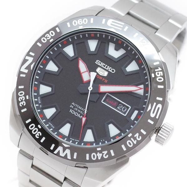 (~4/30)【キャッシュレス5%】セイコー SEIKO 腕時計 SRP1743J1 SEIKO5 自動巻き ブラック シルバー メンズ