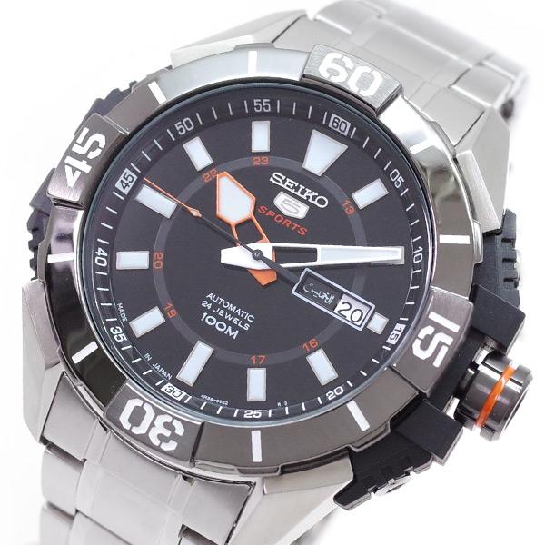 (~4/30)【キャッシュレス5%】セイコー SEIKO 腕時計 SRP1795J1 SEIKO5 自動巻き ブラック シルバー メンズ