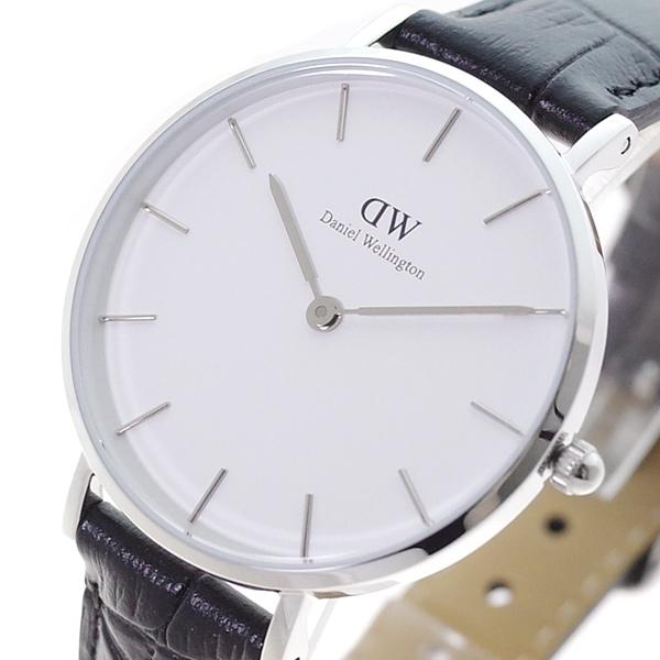 (~4/30)【キャッシュレス5%】ダニエルウェリントン DANIEL WELLINGTON 腕時計 DW00100185 クォーツ ホワイト ブラック レディース