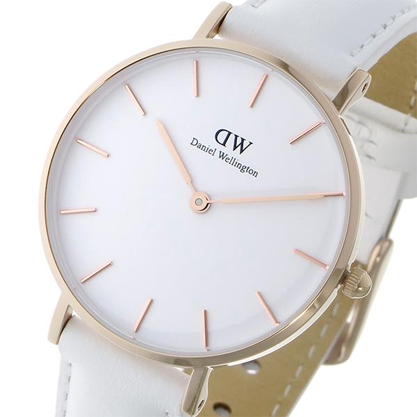 【スーパーSALE】(~9/11 01:59)(~9/30)ダニエル ウェリントン クラシック ペティート ボンダイ ホワイト 32mm 腕時計 DW00100189 レディース