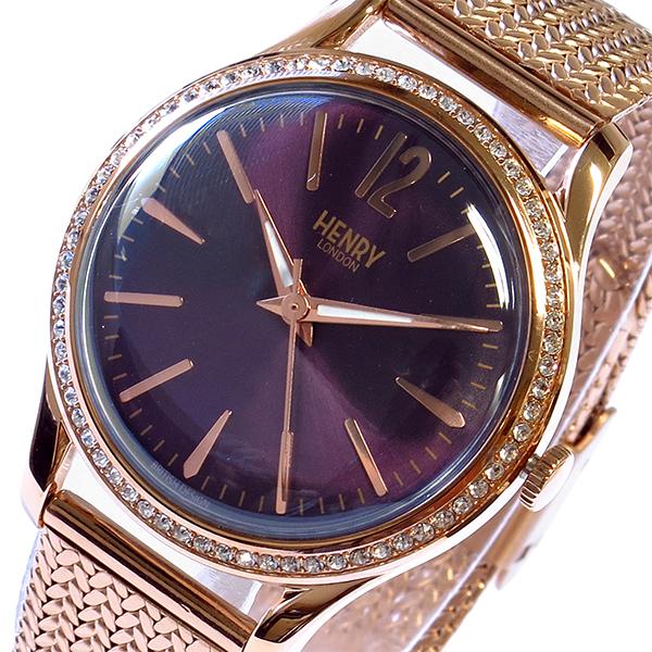 最高 (~8/31) ヘンリーロンドン HENRY LONDON HENRY ハムステッド ハムステッド HAMPSTEAD (~8/31) 30mm 腕時計 HL34SM0196 パープル レディース, Bell-Milk:fbbdf14c --- clifden10k.com