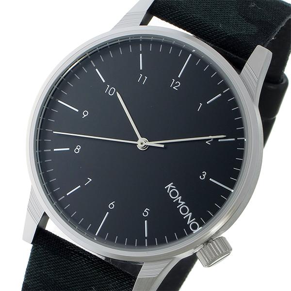 ご注文合計3 980円以上で送料無料 沖縄 離島を除く コモノ 2020 KOMONO Winston Print-Camo Green ラッピング ブラック 1年保証 メンズ クオーツ ギフト 信託 KOM-W2169 腕時計 プレゼント