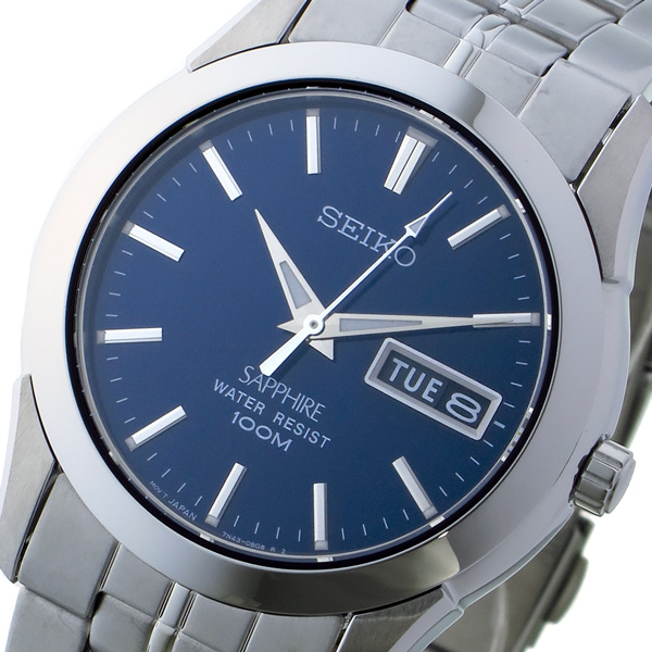 【スーパーSALE】(~9/11 01:59)(~9/30)セイコー SEIKO クオーツ 腕時計 SGG717P1 ネイビー ユニセックス